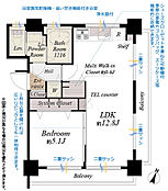 4階東南角部屋につき採光通風良好室内リノベーションにより設備一新防音性UPの二重サッシ新設