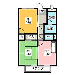サープラスIISUMI B棟[1階]の間取り