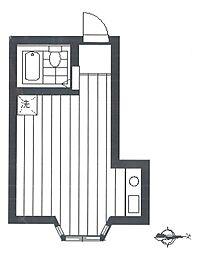 カスミコーポ[2階]の間取り