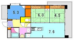 内野ルネスビル[3階]の間取り