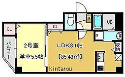 テラス東浅草[6階]の間取り