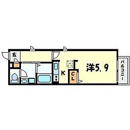 ネスト甲子園[1階]の間取り