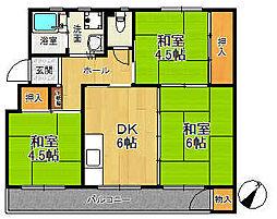 新狭山ハイツ15号棟[205号室号室]の間取り