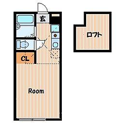 ハーミットクラブハウス追浜B棟[2階]の間取り