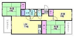 サウスビレッジ88[4階]の間取り