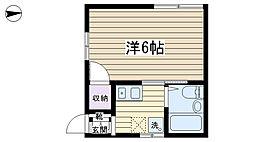 ルネサンス栗田[201号室]の間取り