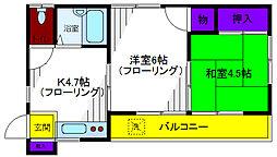 コーポ小川[2階]の間取り