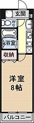 Rooms Ooji[306号室号室]の間取り