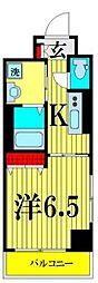 都営浅草線 浅草駅 徒歩12分の賃貸マンション 3階1Kの間取り
