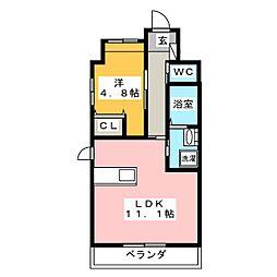 仮)中区正木三丁目自宅併用店舗マンション[6階]の間取り