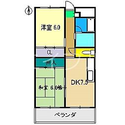 エトワール南御座[3階]の間取り
