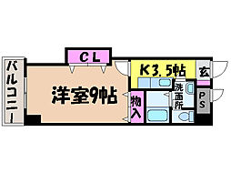 愛媛県松山市勝山町1丁目の賃貸マンションの間取り