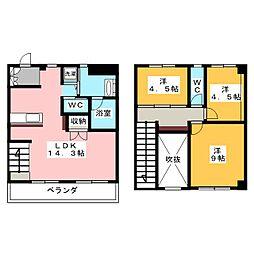 東山元町ハウス[1階]の間取り