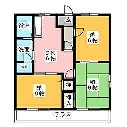 青山ヒルズ B棟[1階]の間取り