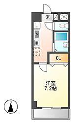 ソレイユ東海通[5階]の間取り