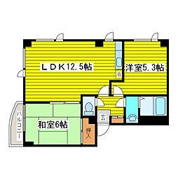 北海道札幌市東区北十一条東11丁目の賃貸マンションの間取り