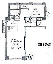 コスモ吉祥寺北町[201号室]の間取り