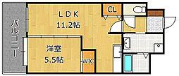 コンプレート富士見[9階]の間取り