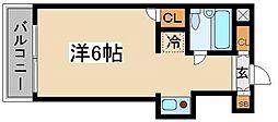 東京都北区滝野川4丁目の賃貸マンションの間取り