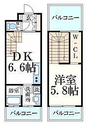 JR東海道・山陽本線 甲南山手駅 徒歩2分の賃貸マンション 4階1LDKの間取り
