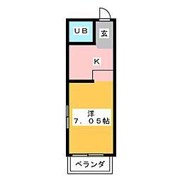 ハイツリトル松下[4階]の間取り