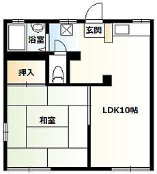 神奈川県相模原市南区栄町の賃貸アパートの間取り