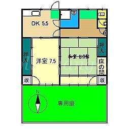 [一戸建] 高知県南国市駅前町3丁目 の賃貸【/】の間取り