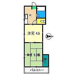 ハイツ15[2階]の間取り