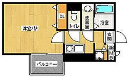 「アスヴェル京都二条烏丸」[11階]の間取り