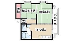 愛知県名古屋市昭和区滝子町の賃貸マンションの間取り