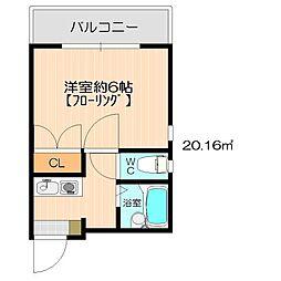 ソミュール姪浜II[3階]の間取り