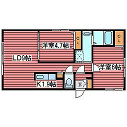 シュア・コート月寒[4階]の間取り