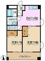 フォルトネート・Kカナモ[2階]の間取り