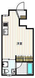 キングハウス新宿御苑[101号室]の間取り
