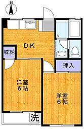 ホワイトフラッツ[2階]の間取り