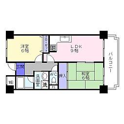 セルフィーユコート東館[4階]の間取り