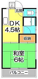 第1野火止荘[2階]の間取り