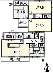 [一戸建] 岐阜県各務原市那加桜町3丁目 の賃貸【/】の間取り