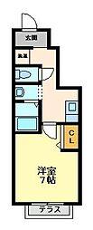 ドゥムールストレチア[1階]の間取り