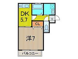 ラ・ルーチェ蕨[1階]の間取り