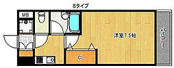 プルメリア玉出[4階]の間取り