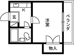 大阪府泉大津市式内町の賃貸マンションの間取り