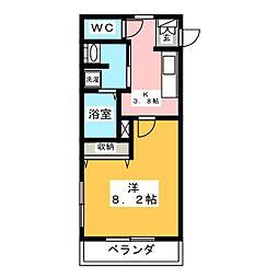 アミティエ 草なぎ[3階]の間取り