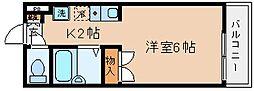 兵庫県神戸市兵庫区小河通2丁目の賃貸アパートの間取り
