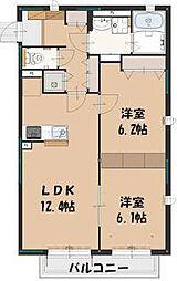 Maison Camphrier  (メゾン カンフリエ) 2階2LDKの間取り
