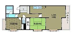 ライオンズマンション相模大野第2−B館[4階]の間取り