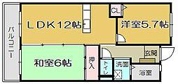 志井ガーデンヒルズ[203号室]の間取り