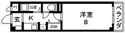 リブレ・ハウス[103号室号室]の間取り