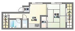 新生ハイツ[4階]の間取り
