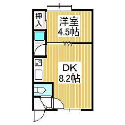 カーサ豊川[3階]の間取り
